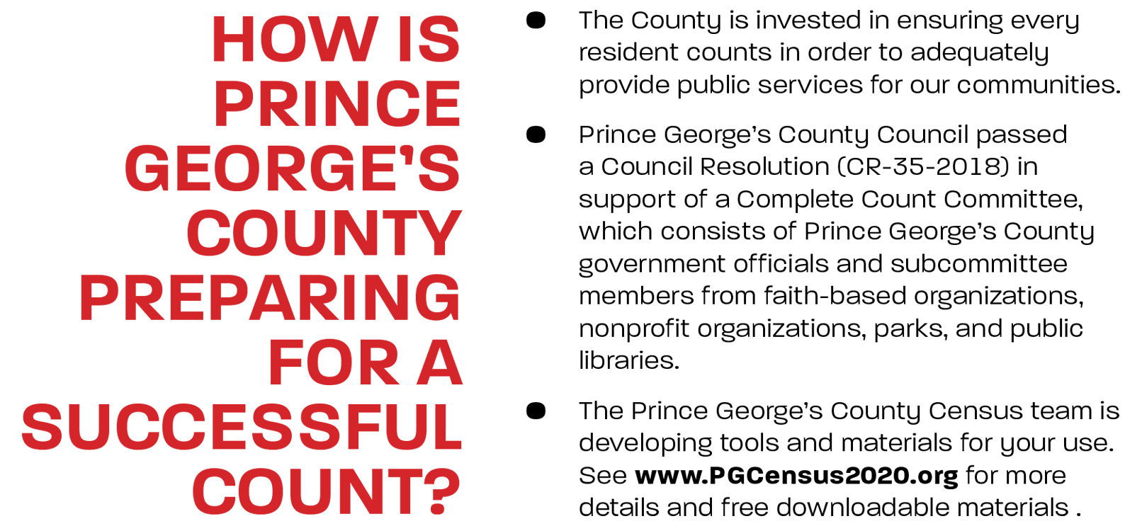How is Prince George's County Preparing for a Successful Count?