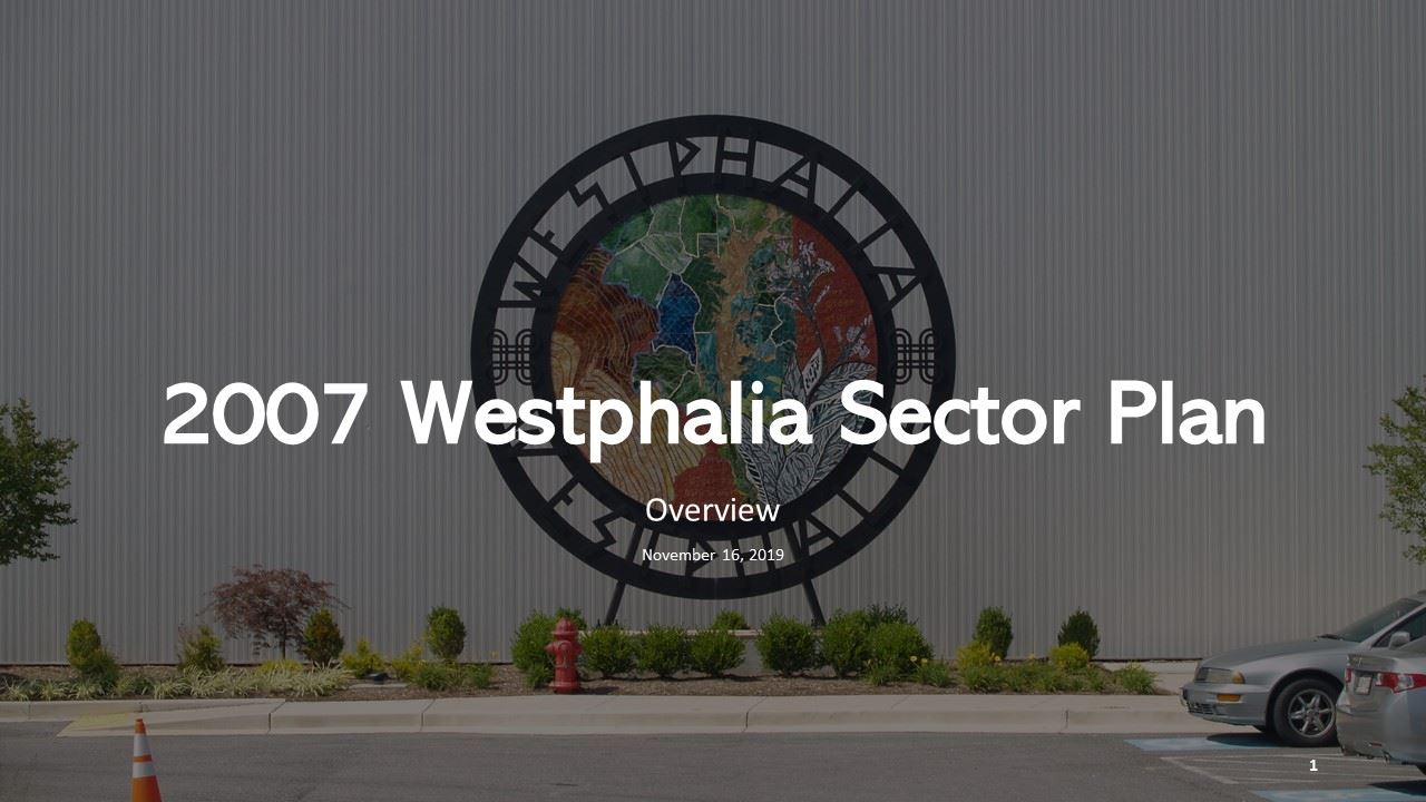 2007 Westphalia Sector Plan Overview
