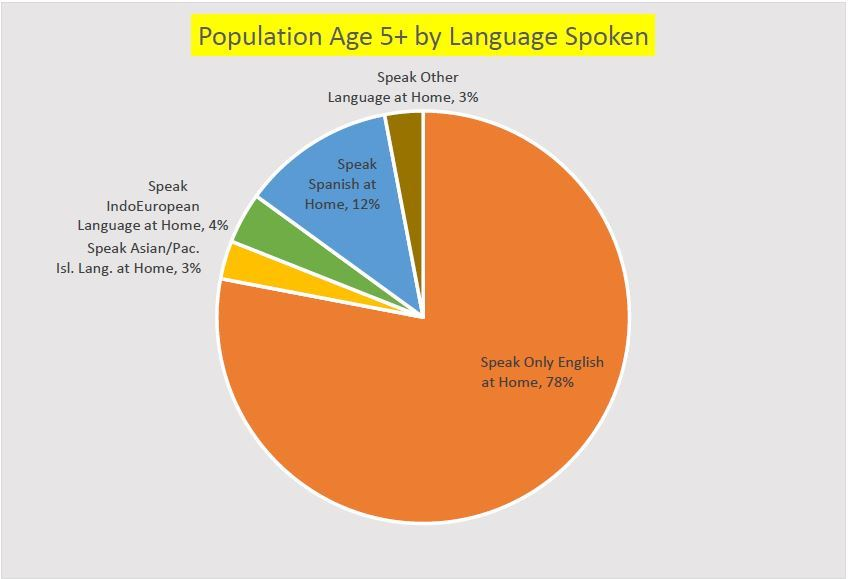 Population Age 5 by Language Spoken